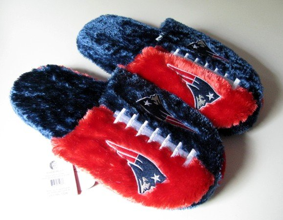 New England Patriots Football Himo Slide Slippers Gift Large