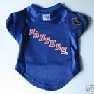 NY New York Rangers Pet Dog Hockey Jersey Premium Large