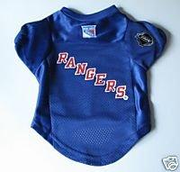 NY New York Rangers Pet Dog Hockey Jersey Premium Large