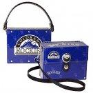 Colorado Rockies Littlearth Fanatic License Plate Purse Bag Gift