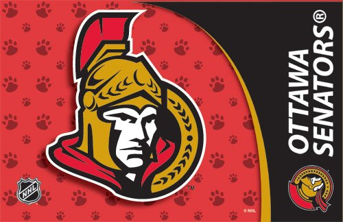 Ottawa Senators Dog Pet Food/Water Padded Mat Placemat Gift