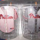 Philadelphia Phillies Home/Away Jersey Tumbler Glass Set 16 oz.