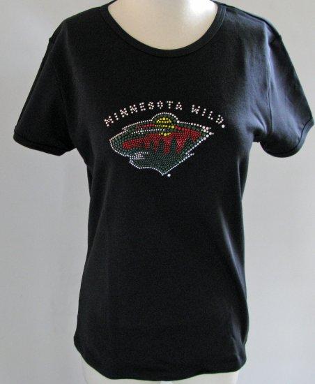 Minnesota Wild Ice It Crystals Women's Shirt Babydoll Tee Large