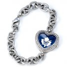 Toronto Maple Leafs Game Time Stainless Steel Rhinestone Ladies Heart Watch
