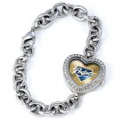 San Diego Padres Game Time Stainless Steel Rhinestone Ladies Heart Watch
