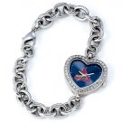 St. Louis Cardinals Game Time Stainless Steel Rhinestone Ladies Heart Watch