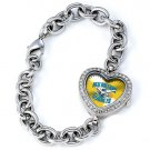New Orleans Hornets Game Time Stainless Steel Rhinestone Ladies Heart Watch