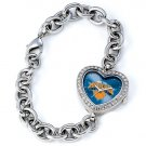 New York Knicks Game Time Stainless Steel Rhinestone Ladies Heart Watch