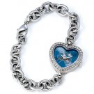 Orlando Magic Game Time Stainless Steel Rhinestone Ladies Heart Watch