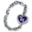 Sacramento Kings Game Time Stainless Steel Rhinestone Ladies Heart Watch