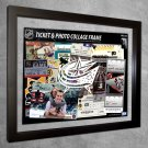 Columbus Blue Jackets Floating Photo and Ticket Collage Frame