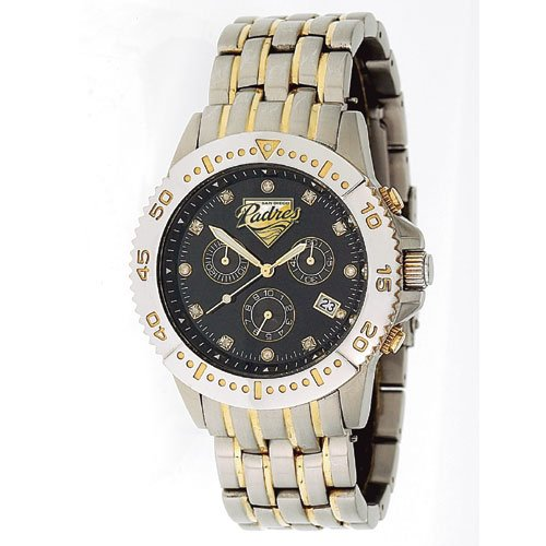 San Diego Padres GameTime Legend Diamond and Steel Watch GIFT