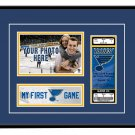 St. Louis Blues My First Game Hockey Ticket Photo Frame