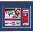 Montreal Canadiens My First Game Hockey Ticket Photo Frame
