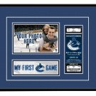 Vancouver Canucks My First Game Hockey Ticket Photo Frame