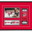 Carolina Hurricanes My First Game Hockey Ticket Photo Frame