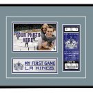 Los Angeles Kings My First Game Hockey Ticket Photo Frame