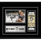 Pittsburgh Penguins My First Game Hockey Ticket Photo Frame