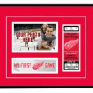Detroit Red Wings My First Game Hockey Ticket Photo Frame