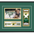 Dallas Stars My First Game Hockey Ticket Photo Frame