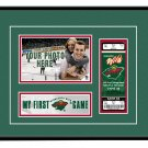 Minnesota Wild My First Game Hockey Ticket Photo Frame