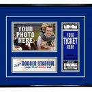 Los Angeles Dodgers Personalized My First Game Baseball Ticket Photo Frame