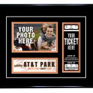 San Francisco Giants Personalized My First Game Baseball Ticket Photo Frame