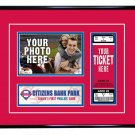 Philadelphia Phillies Personalized My First Game Baseball Ticket Photo Frame