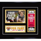 Pittsburgh Pirates Personalized My First Game Baseball Ticket Photo Frame