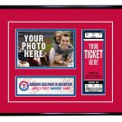 Texas Rangers Personalized My First Game Baseball Ticket Photo Frame