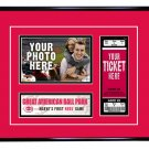 Cincinnati Reds Personalized My First Game Baseball Ticket Photo Frame