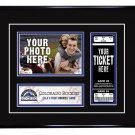 Colorado Rockies Personalized My First Game Baseball Ticket Photo Frame
