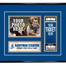 Kansas City Royals Personalized My First Game Baseball Ticket Photo Frame