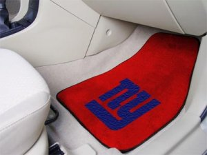 New York Giants Carpet Car Mats Set