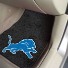 Detroit Lions Carpet Car Mats Set