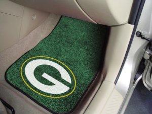 Green Bay Packers Carpet Car Mats Set