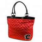 Calgary Flames Littlearth Quilted Tote Bag Purse