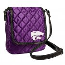 Kansas State University KSU Wildcats Littlearth Quilted Cross-Body Purse Bag