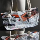 Auburn University Tigers Newspaper Hobo Purse Bag