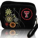Texas Tech University Red Raiders Corduroy Cosmetic Makeup Bag Wristlet