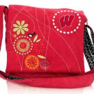 University of Wisconsin Badgers Corduroy Messenger Bag Purse