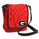 University of Georgia Bulldogs Littlearth Quilted Cross-Body Purse Bag