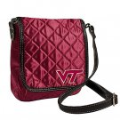 Virginia Tech University Hokies Littlearth Quilted Cross-Body Purse Bag