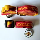 Iowa State University Cyclones Pet Dog Set Leash Collar ID Tag Large