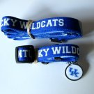 University of Kentucky Wildcats Pet Dog Set Leash Collar ID Tag Large