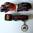 Oregon State University Beavers Pet Dog Set Leash Collar ID Tag Large