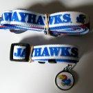 University of Kansas Jayhawks Pet Dog Set Leash Collar ID Tag Small