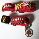 Maryland University Terrapins Pet Dog Set Leash Collar ID Tag Small