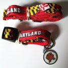 Maryland University Terrapins Pet Dog Set Leash Collar ID Tag Large