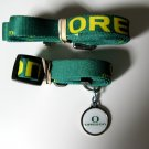 Oregon University Ducks Pet Dog Set Leash Collar ID Tag Small